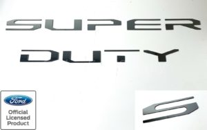 2020 Ford Super Duty ABS Chrome Letters For Tailgate