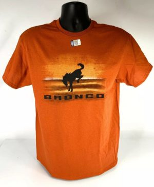 New 2021 Ford Bronco T-Shirt - Burnt Orange Desert w/ Black Emblem & Script