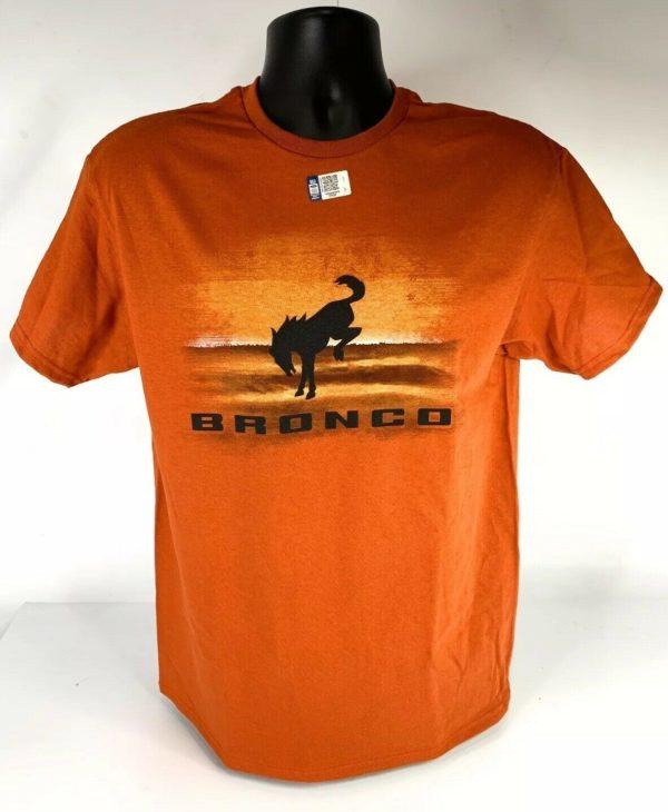 New 2021 Ford Bronco T-Shirt - Burnt Orange Desert w/ Black Emblem & Script