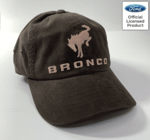 New 2021 Ford Bronco Hat - Brown w/ Embroidered Tan Bronco Emblem & Script
