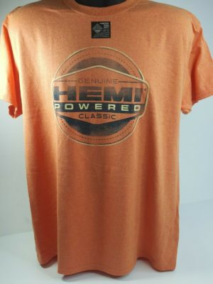 Orange T-Shirt - HEMI Powered w/ Genuine Classic Emblem / Logo (Licensed)