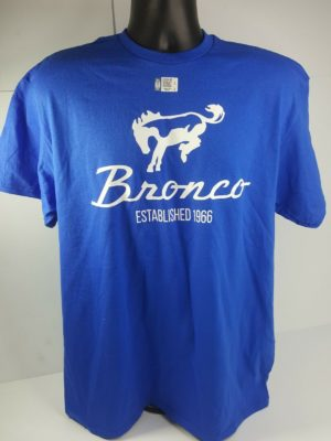 Ford Bronco T-Shirt - Blue w/ 1st Generation 1966-1977 Logo / Emblem (Licensed)