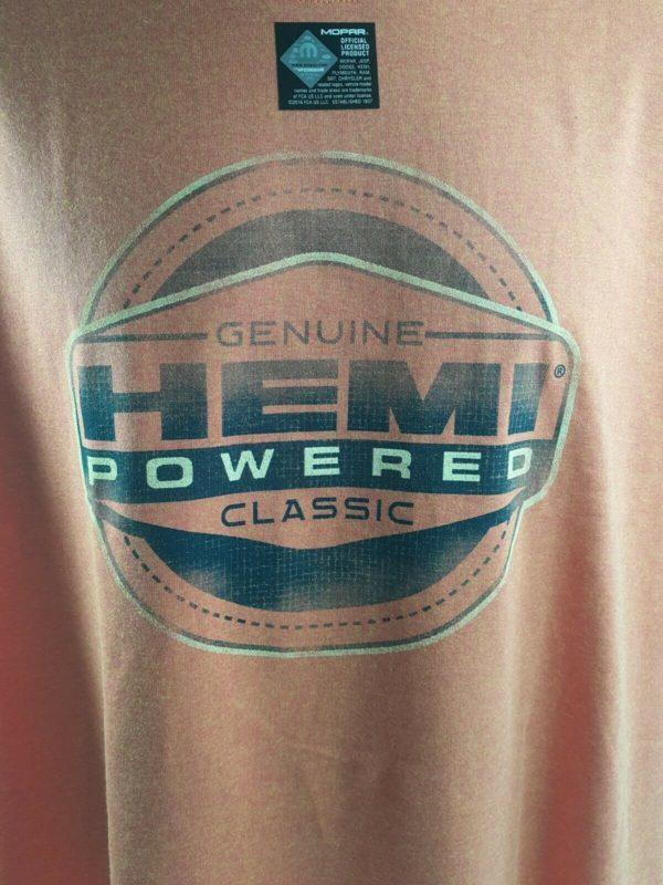 Orange T-Shirt - HEMI Powered w/ Genuine Classic Emblem / Logo (Licensed)