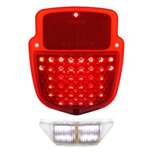 LED Tail Light Lens W/LED License Plate Light For 1953-56 Ford Truck - L/H