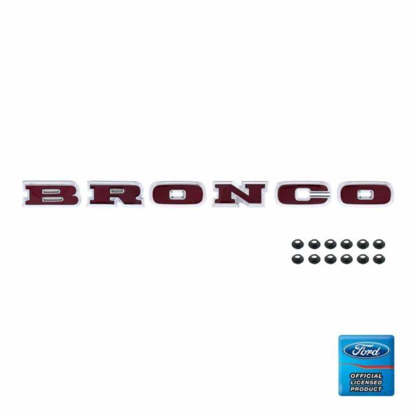 "Chrome ""BRONCO"" Grille Letter Set"