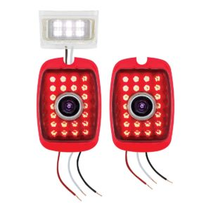 LED Tail Light Set w/LED Blue Dot For 1940-53 Chevy & GMC Truck & 1937-38 Chevy Car