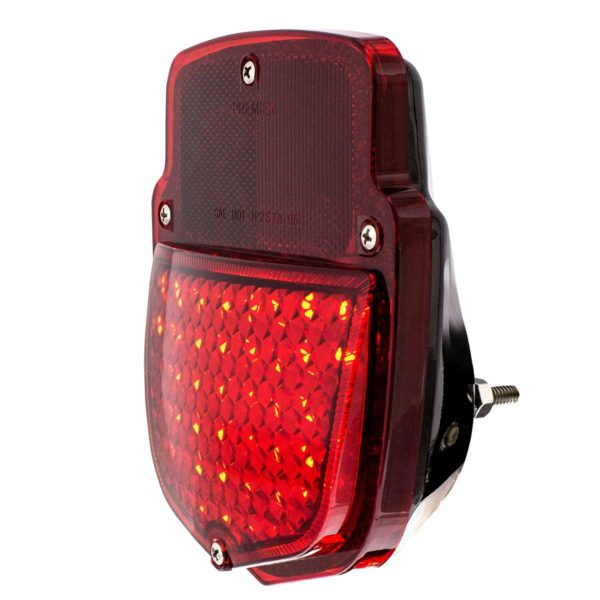 38 LED Sequential Tail Light w/Black Housing For 1953-56 Ford Truck - L/H