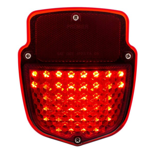 38 LED Sequential Tail Light w/Black Housing For 1953-56 Ford Truck - R/H