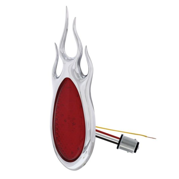 1938-39 Ford Car Style LED Sequential Tail Light With Chrome Flush Mount Flame Bezel
