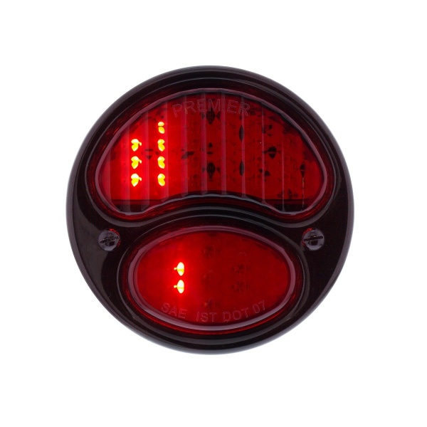 31 LED Sequential Tail Light w/Black Housing & Rim For 1928-31 Ford Car - R/H