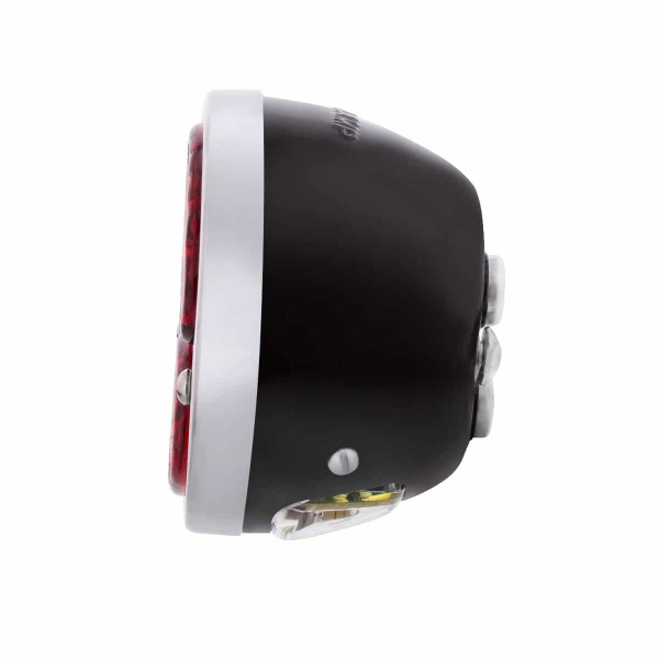 31 LED Sequential Tail Light w/Black Housing & Stainless Steel Rim For 1928-31 Ford Car - L/H