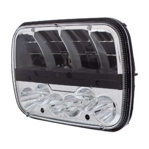 """High Power LED 5""""x7"""" Headlight With Polycarbonate Lens & Housing"""