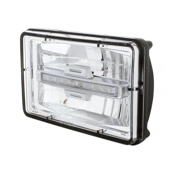 "4"" X 6"" Rectangular LED Headlight With Daytime Running Light - High Beam"