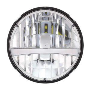 "7"" High Power LED Headlight w/ Turn Signal & Amber Position Light Bar"