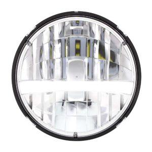 "7"" High Power LED Headlight w/ Turn Signal & White Position Light Bar"