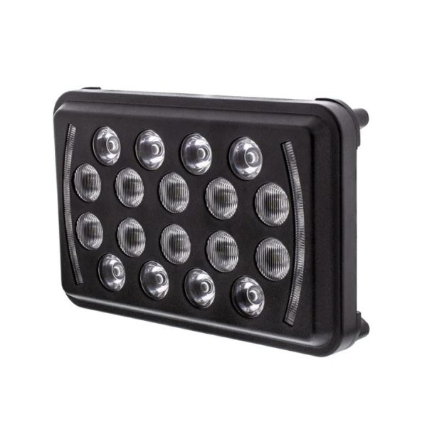 "18 High Power 4""X 6"" LED Rectangular Light With Position Light - Black"