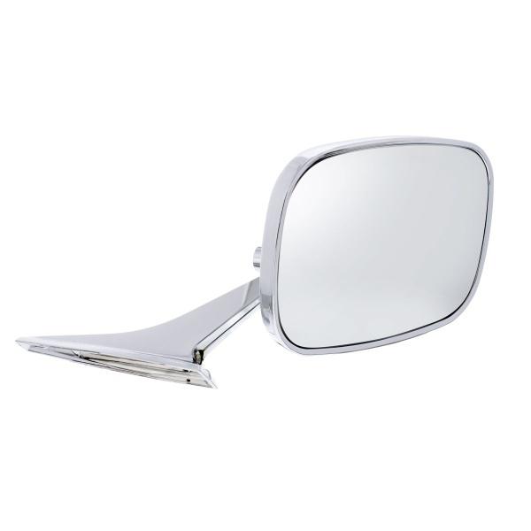Rectangular Exterior Mirror w/Convex Mirror Glass For 1968-72 Chevy Passenger Car - R/H