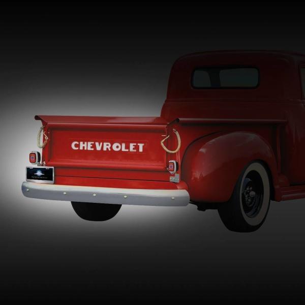 23 LED Tail Light w/Black Housing & Blue Dot For 1940-53 Chevy & GMC Truck - R/H