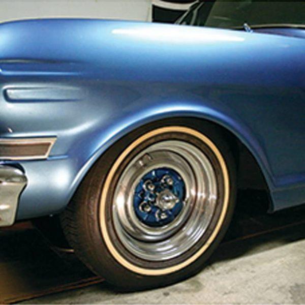 "Chrome 5 on 4-1/2"" Vintage Spider Wheel Hub Cover (4/Set)"