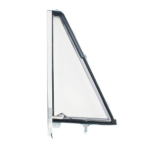 Vent Window Assembly Chrome Frame Without Tinted Glass For 1966-77 Ford Bronco - R/H