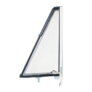 Vent Window Assembly Chrome Frame Without Tinted Glass For 1966-77 Ford Bronco - L/H