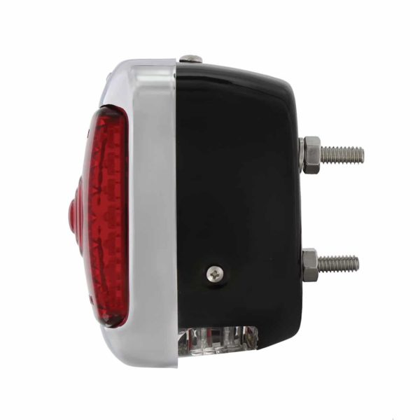 27 LED Sequential Tail Light w/Black Housing For 1940-53 Chevy & GMC Truck - L/H