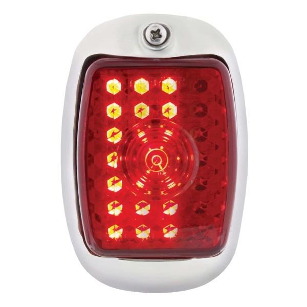 27 LED Sequential Tail Light w/Black Housing For 1940-53 Chevy & GMC Truck - R/H