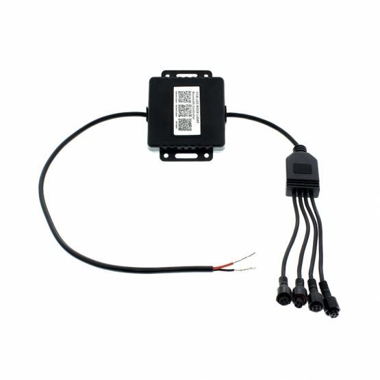 Bluetooth RGB Multi-Color 500 Lumen LED Rock Light 4-Piece Kit