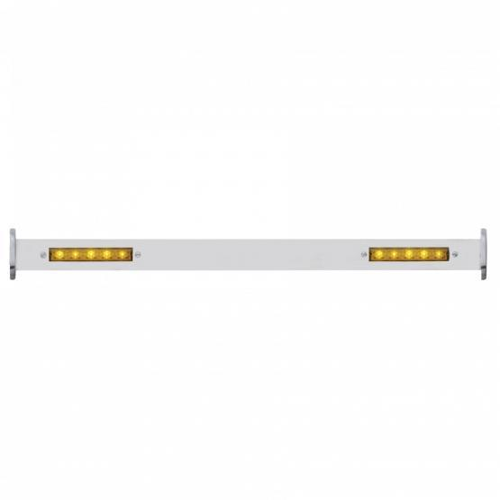 Polished SS Spreader Bar w/LED Turn Signals, Front For 1932 Ford Car & Truck